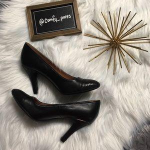 Sofft Black Leather Heels 👠